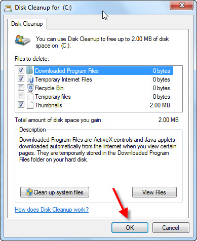 Disk Cleanup for C